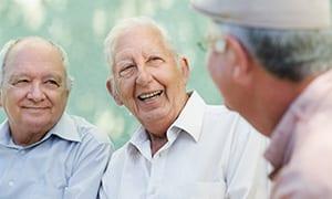 Older gentlemen talking