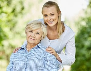 Lady with Mom