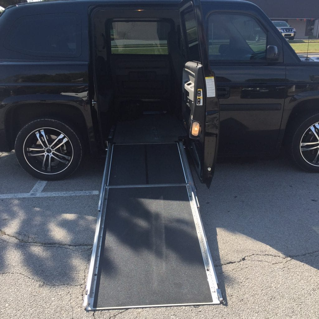 Wheelchair ramp on van