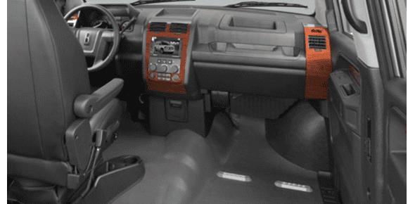 Inside of van